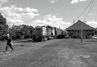 Feed Mill Photograph - Adm Sw8 8682 In October 2013 Bw by Joseph C Hinson Photography