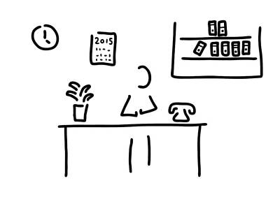 Office Plants Drawing - Administration Office by Lineamentum