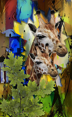 Mixed Media - Admirable Mom And Child by Marvin Blaine