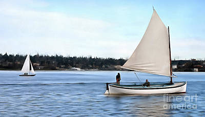 Photograph - Admirable Sailing On Lake Union by Susan Parish