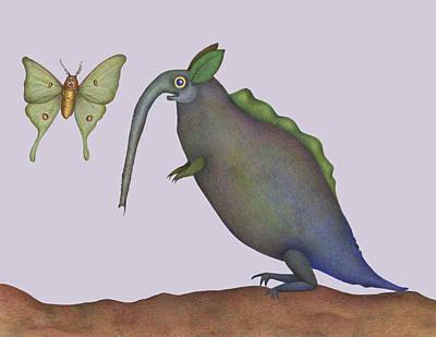 Luna Moth Drawing - Admiral Bludgeon by Bruce Dunlap