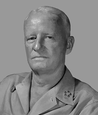 Pacific Digital Art - Admiral Chester Nimitz by War Is Hell Store