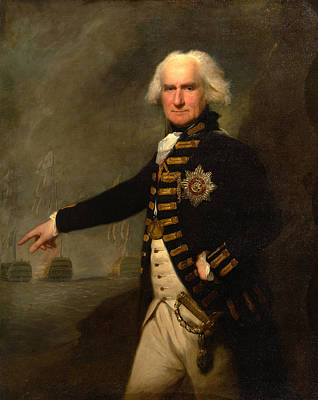 Painting - Admiral Lord Bridport by Lemuel Francis Abbott