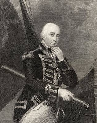 Collingwood Drawing - Admiral Lord Cuthbert Collingwood 1st by Vintage Design Pics