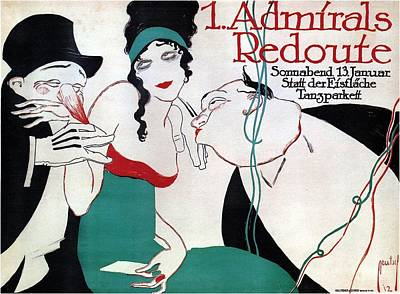 Mixed Media - Admirals Redoute - Floor Dance - Vintage Advertising Poster by Studio Grafiikka