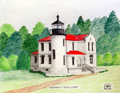 Admiralty Head Light Art Print by Frederic Kohli