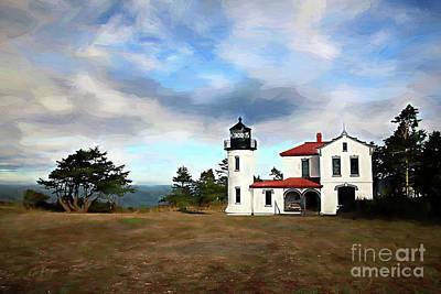 Casey Digital Art - Admiralty Head Lighthouse II by Cheryl Rose