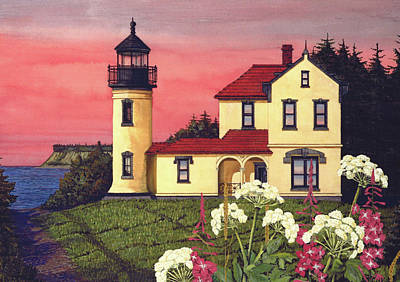 Artillery Mixed Media - Admiralty Head Lighthouse  by James Lyman