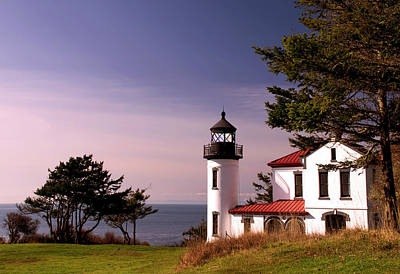 Photograph - Admiralty Head Lighthouse On Whidbey Island, Washington State, Usa by Greg Sigrist