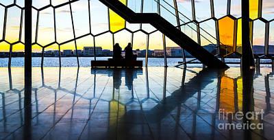 Couple Mixed Media - Admiring Sunset by Svetlana Sewell