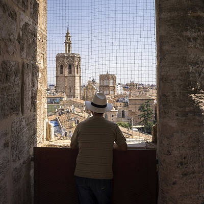 Photograph - Admiring The Micalet In Valencia by For Ninety One Days