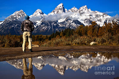 Photograph - Admiring The Schwabacher Sights by Adam Jewell