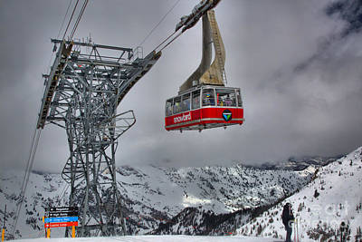 Photograph - Admiring The Snowbird Tram by Adam Jewell