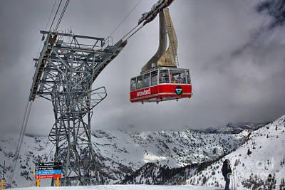 Photograph - Admiring The Snowbird Tram by Adam Jewell