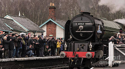 Photograph - Admiring Tornado At Grosmont  by David  Hollingworth