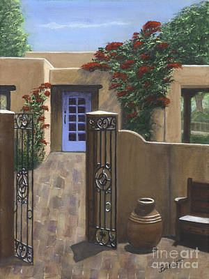 Southwest Gate Painting - Adobe Charm by Paul Burkhart