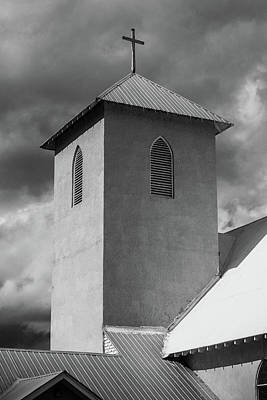Photograph - Adobe Church Steeple by Steven Bateson