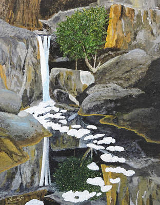 Painting - Adobe Falls The Painting by L J Oakes