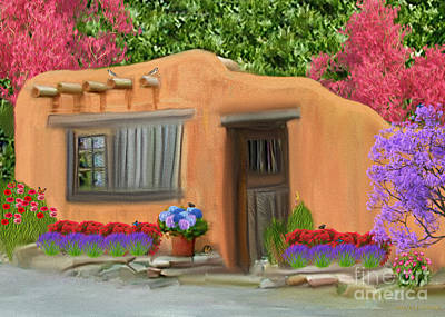 Digital Art - Adobe Home by Walter Colvin