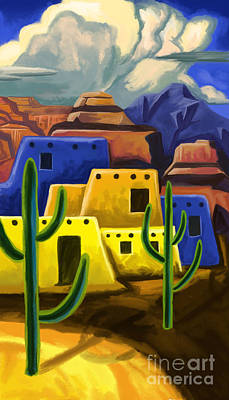 Painting - Adobe In The Desert 2 by Tim Gilliland