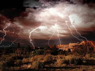 Photograph - Adobe Lightning Storm by Joseph Frank Baraba