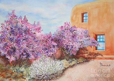 Adobe Lilacs Print by Ann Sokolovich