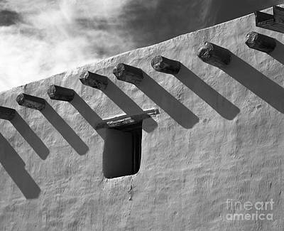 Strutt Photograph - Adobe Roof Beams by Arni Katz