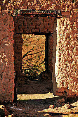 Burned Clay Photograph - Adobe Ruin by Charles Benavidez