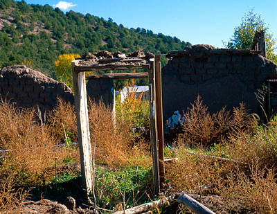 A2 Photograph - Adobe Ruins Las Trampas Nm by Troy Montemayor