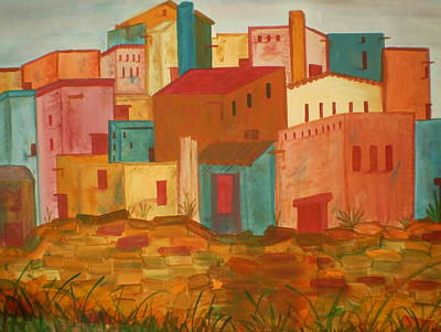 Adobe Village Art Print by Judi Goodwin
