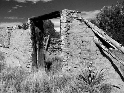 Photograph - Adobe Wall And Door by Jeannie Bushman