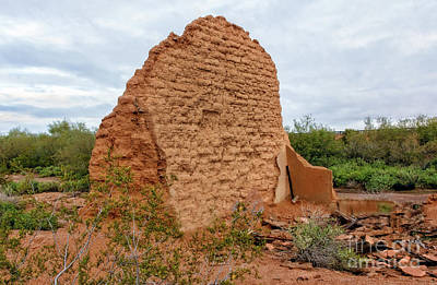 Photograph - Adobe Wall by Robert Bales