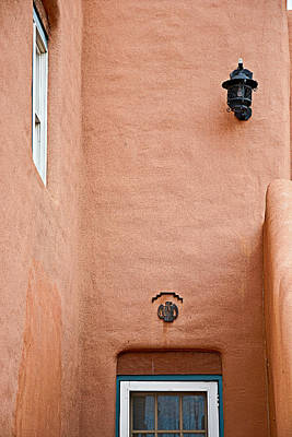 Photograph - Adobe Wall Window And Lamp by Robert Meyers-Lussier