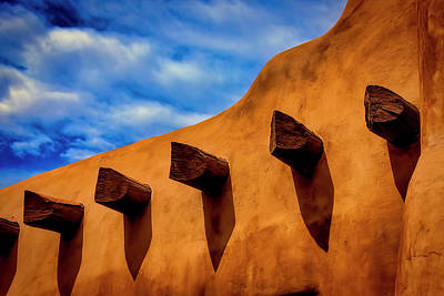 Adobe Wall With Beams Art Print