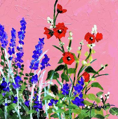 Painting - Adobe Wallflowers by Adele Bower