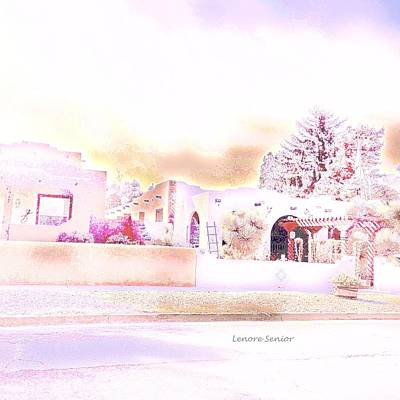 Photograph - Adobe Winter by Lenore Senior