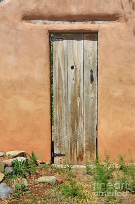 Photograph - Adobe Wooden Door by Andrea Hazel Ihlefeld