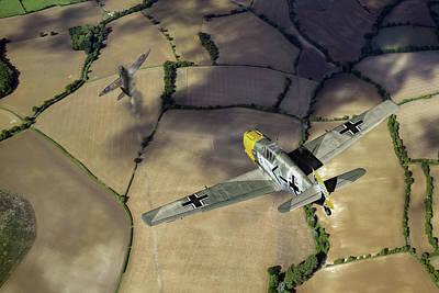 Photograph - Adolf Galland Attacking Spitfire by Gary Eason