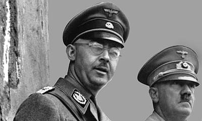Adolf Hitler And Gestapo Head Heinrich Himmler Watching Parade Of Nazi Stormtroopers 1940-2015 Art Print