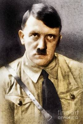 Hitler Painting - Adolf Hitler, Leader Of The Nazi Party, Wwii. History Portraits by John Springfield