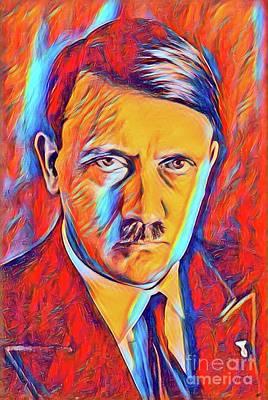 Adolf Digital Art - Adolf Hitler, Leaders Of Wwii Series.  by John Springfield