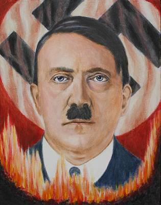 Adolf Hitler On Fire Original