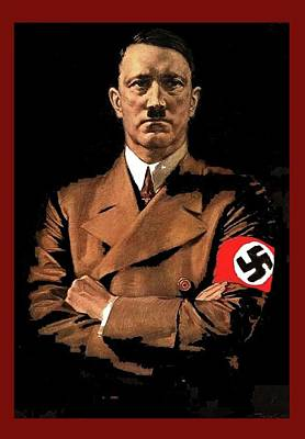 Adolf Hitler Painting Circa  1940 Color Added 2016 Art Print