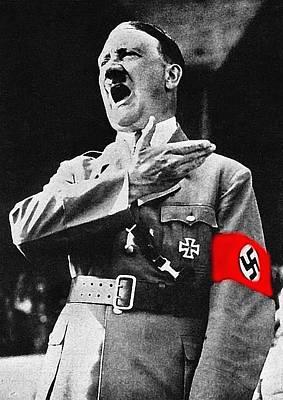 Adolf Hitler Ranting 1  Art Print by David Lee Guss