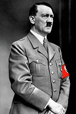 Adolf Hitler The Visionary Circa 1941 Color Added 2016 Art Print