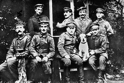 Photograph - Adolf Hitler With  Fellow Soldiers From The List Regiment  Number Two Circa 1916 by David Lee Guss