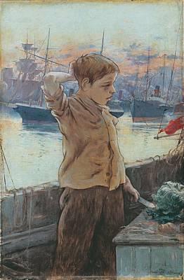 Man Painting - Adolfo Guiard, El Cho 1887, The Ships Boy by Adolfo Guiard