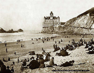 Photograph - Adolph Sutro Third Cliff House Photo No. 37 January 14, 1896 Circa 1902 by California Views Archives Mr Pat Hathaway Archives