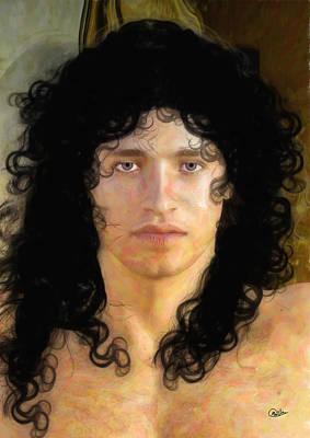 Adonis Watercolor Portrait Art Print by Quim Abella