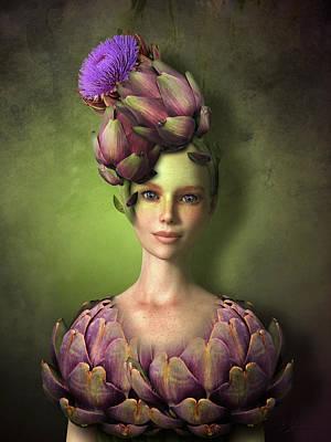 Mixed Media - Adorable Artichoke by Britta Glodde